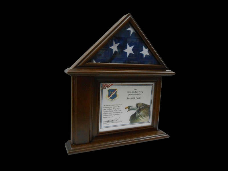 "3. Flag Case for 3 x 5 Flag and 8"" x 11"" Certificate"